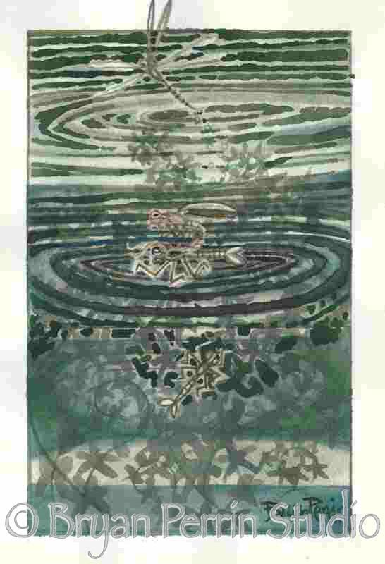 """Metamorphoses"" Watercolor on paper 12″ x 18″"