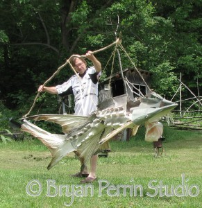 Articulated Sturgeon Puppet
